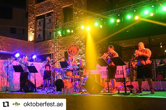 Our last gig for the month is tomorrow as we rock 'Spooktoberfest' as part of @oktoberfest.ae at the @westinabudhabi  #Bavariancamels #i❤️bavariancamels #Bavarian #oompah #oompahband #livemusic #brassband #oktoberfestabudhabi #oktoberfestuae #oktoberfest #oktoberfest2019 #bookus #timeoutdubai #timeoutabudhabi #whatsonabudhabi #oktoberfestae #music #brass #Repost @oktoberfest.ae • • • • • • Oktoberfest.ae  Some dance moves this weekend 😂💃🕺Dancingis the hidden language of the soul so get yourself ready for some more dancing and madness this weekend at @oktoberfest.ae FREE Entry & FREE Beverage Before 7pm.