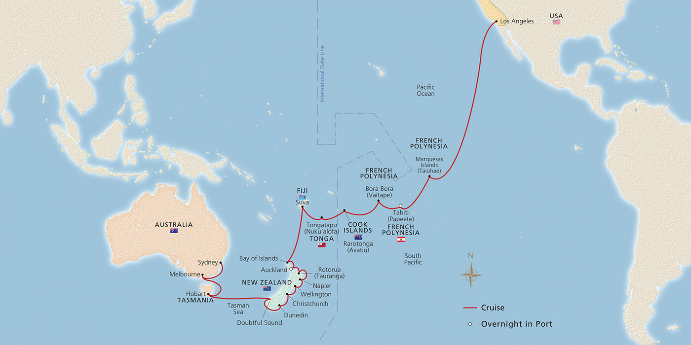 Wlm World Travel South Pacific The Land Down Under Itinerary