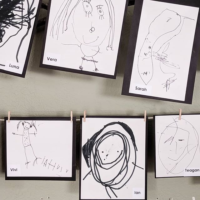 First experiments with self-portraits this year. How will these evolve as we continue our year together? #selfportrait #drawing #inktober #earlychildhood  #thehundredlanguagesofchildren