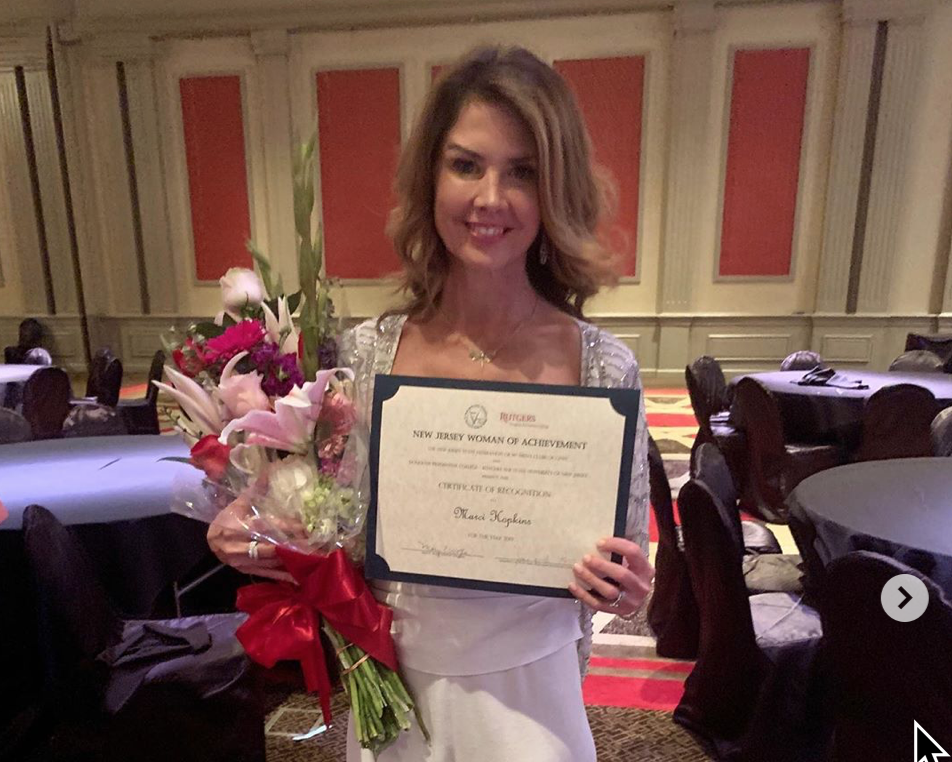 Marci Honored! - Marci was recently awarded with the Women's Achievement Award from the NJSFWC (N.J. State Federation of Women's Clubs of GFWC) at their 38th annual convention.