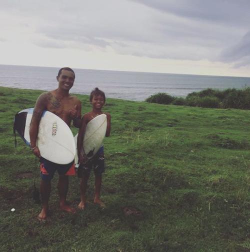 Suta Yasa and his son