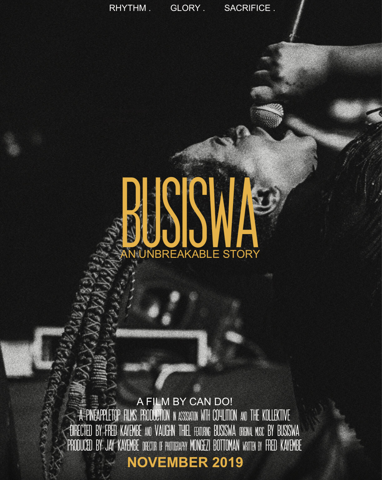 Busiswa: An Unbreakable Story - Opening Night Premiere2019 DocumentaryShe's the Dance Queen of South Africa's music scene and Award winning vocalist. But where did it all start and how has she got this far follow her Journey. From her early beginnings in Mthatha, Eastern Cape, to her gaining public recognition in a feature on DJ Zinhle's song,