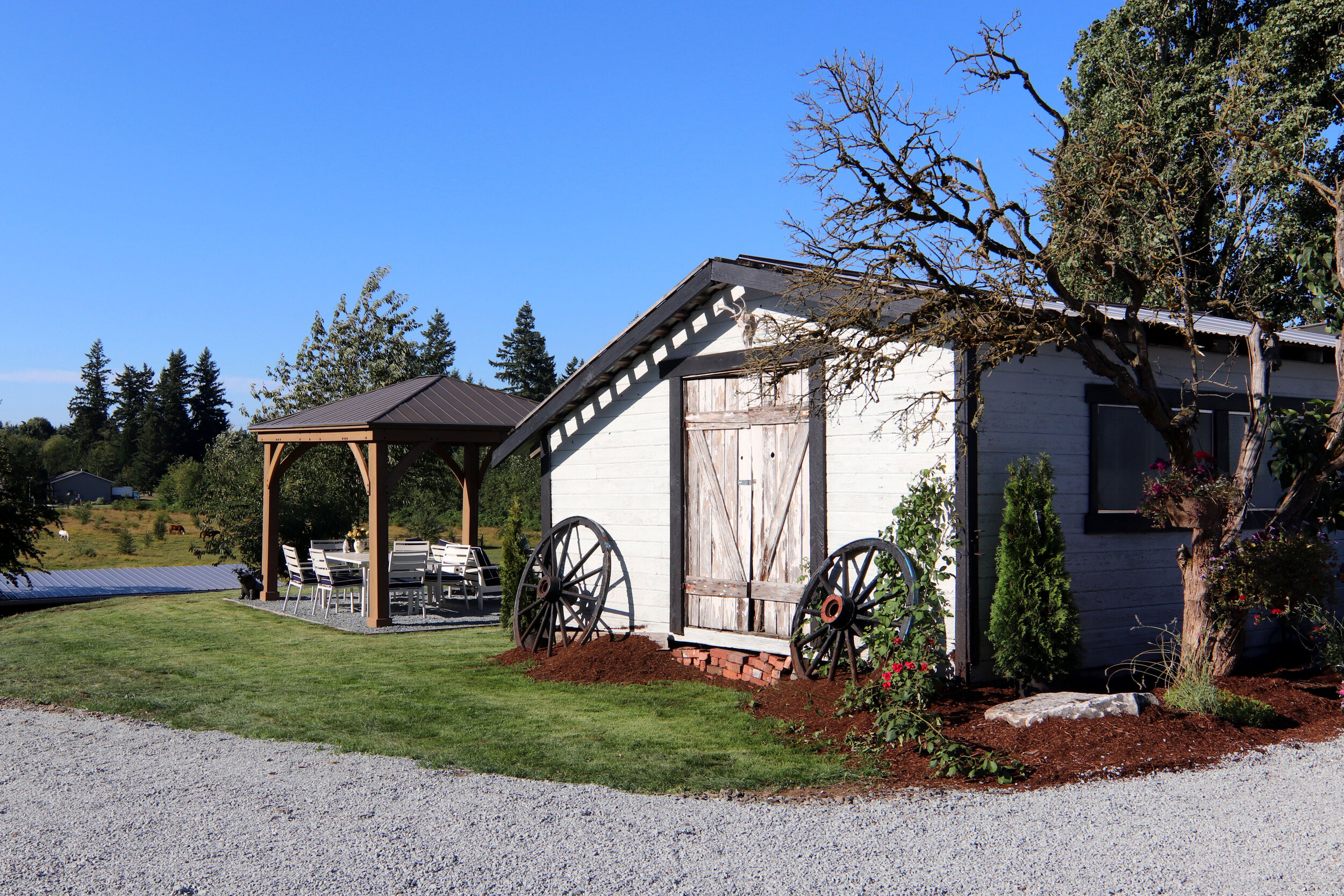 """Absolutely beautiful location for a wedding!!! Any couple that chooses to say """"I Do"""" at The Hidden Farm is very lucky!!! The owners are a delight to work with!                      —Joanne F."""