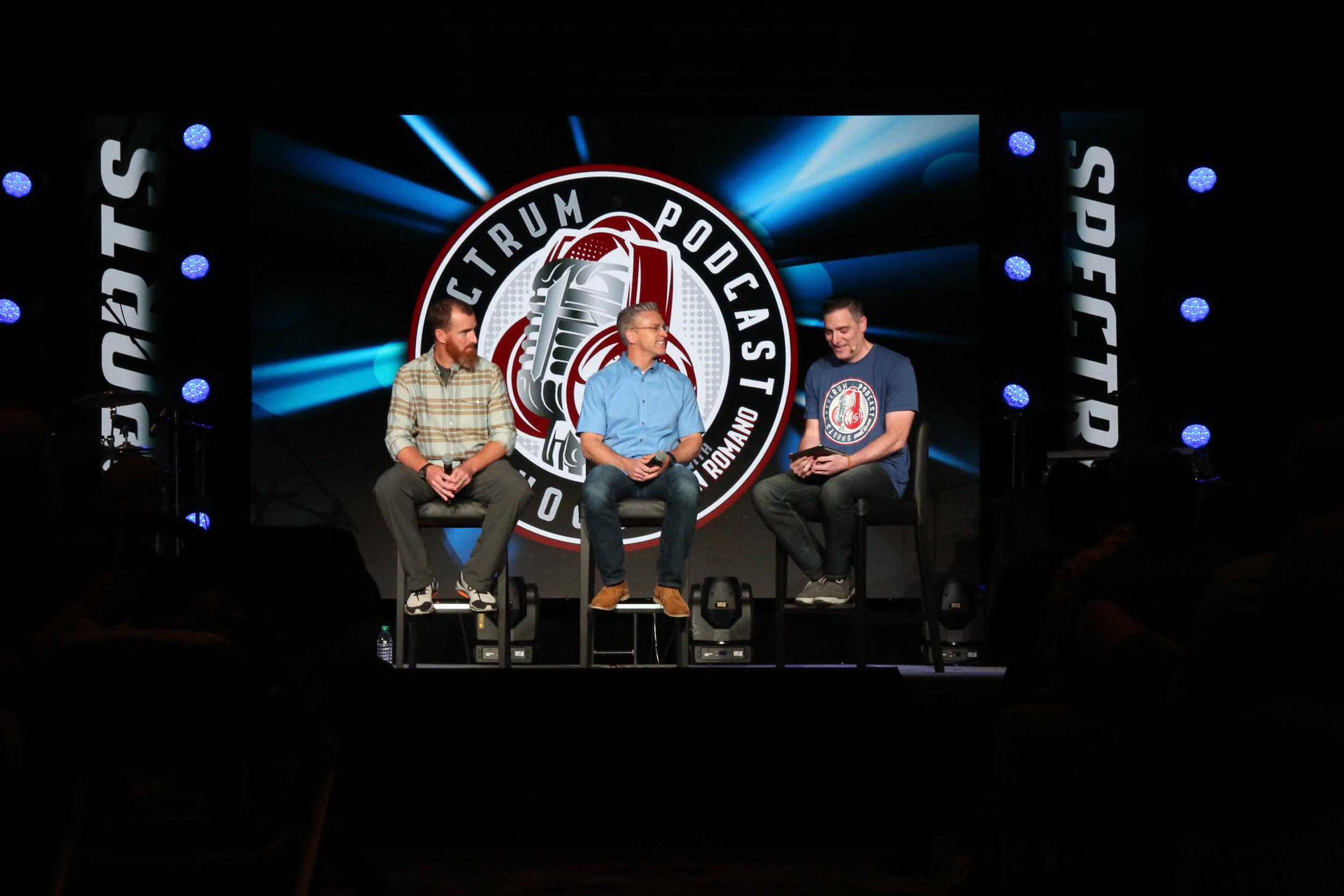 Jason interviewing former MLB player Adam LaRoche and IJM Founder Gary Haugen