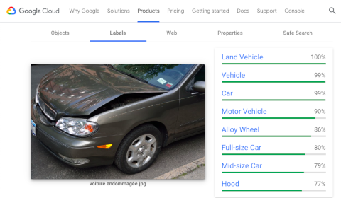 USAA (with Google) for analyzing damages