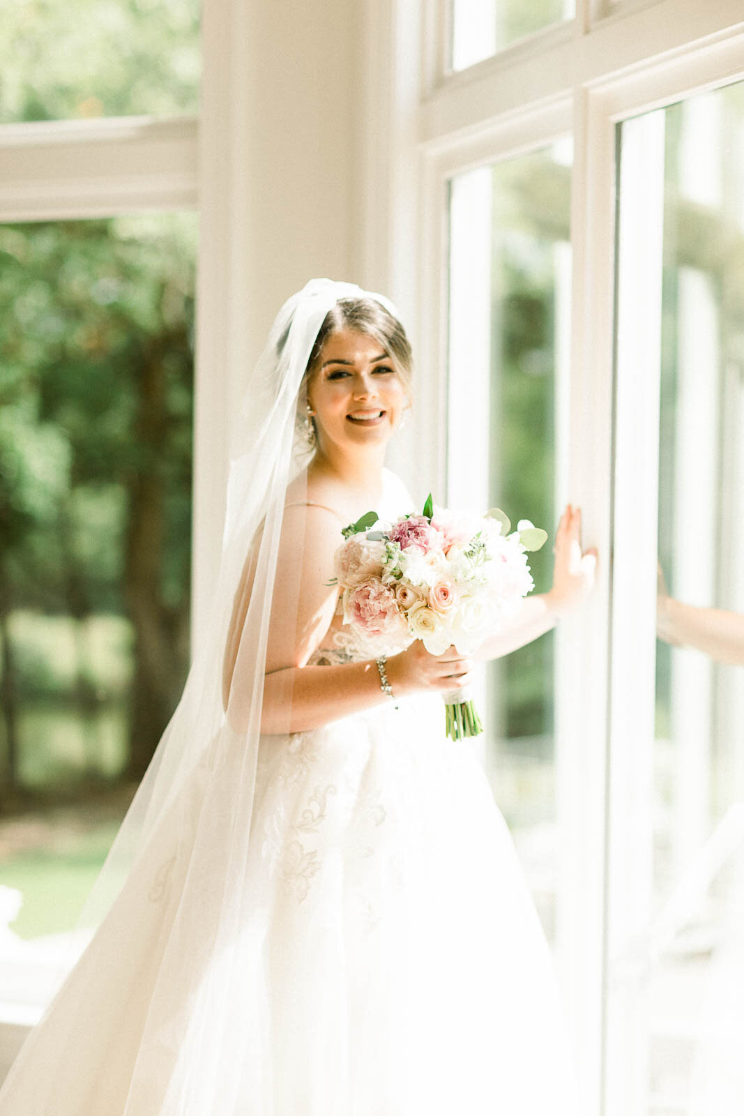 Glowing Bride on Her Wedding Day, Mississippi