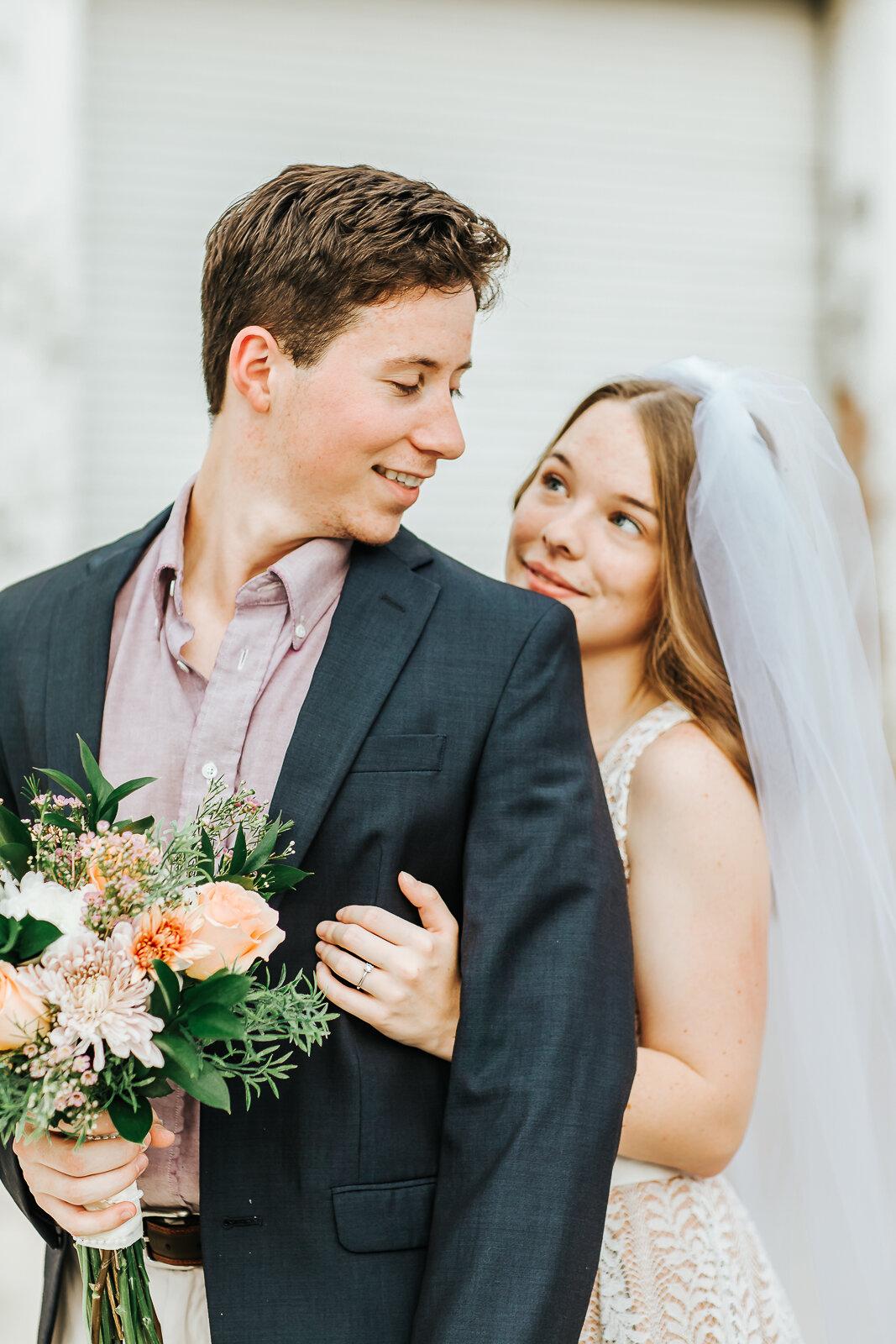 Bridal Portrait in Tupelo, Mississippi