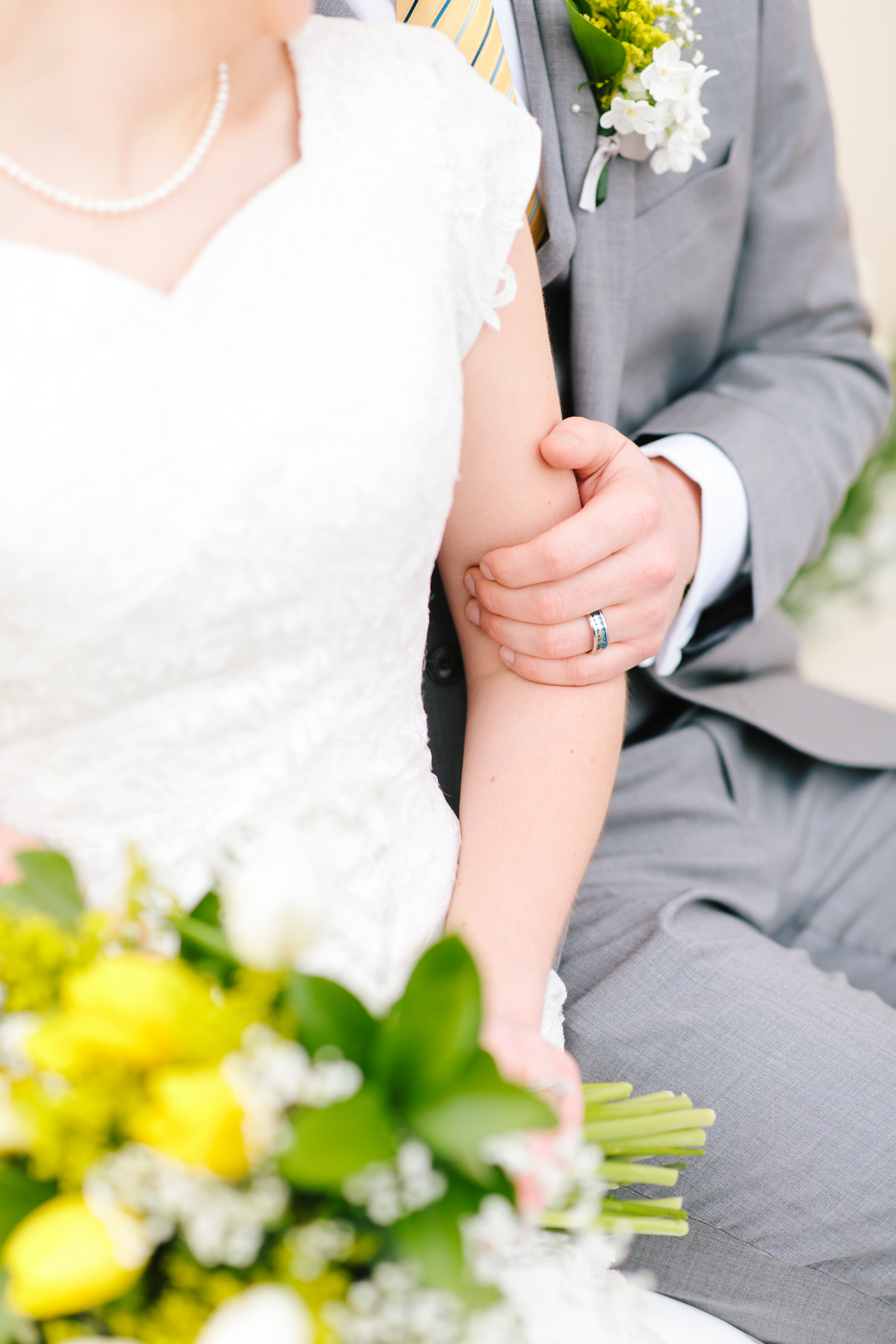 mens wedding ring inspiration unique mens wedding ring grey suit lace wedding dress lds couple mormon wedding couple pose inspiration show off the wedding ring wedding session aesthetic inspiration silver and turquoise mens wedding ring for time and all eternity #eternalbuddies #weddingsession #weddinginspo #ldswedding #ldsbride #couplegoals #paysontemple #temple #profressionalphotographer #utah #love