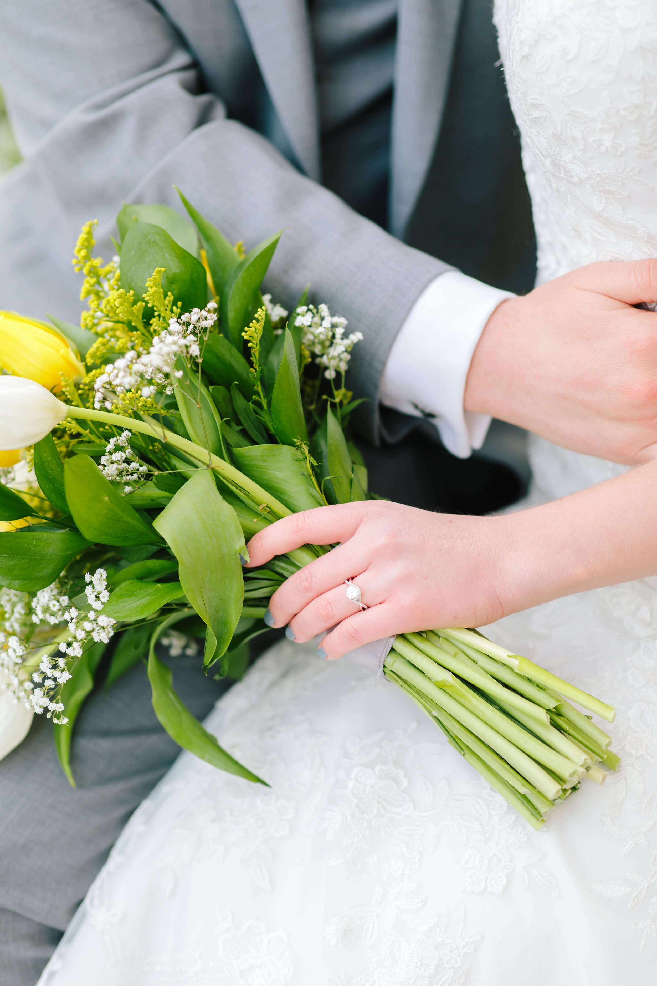 holding wedding bouquet inspiration wedding ring inspiration forever flowers grey suit perfect moment lds bride bridals wedding day memories wedding scrapbook cover professional wedding photographer payson utah utah couple wedding picture goals wedding goals lds couple love #weddingsession #weddinginspo #ldswedding #ldsbride #couplegoals #paysontemple #temple #profressionalphotographer #utah #love