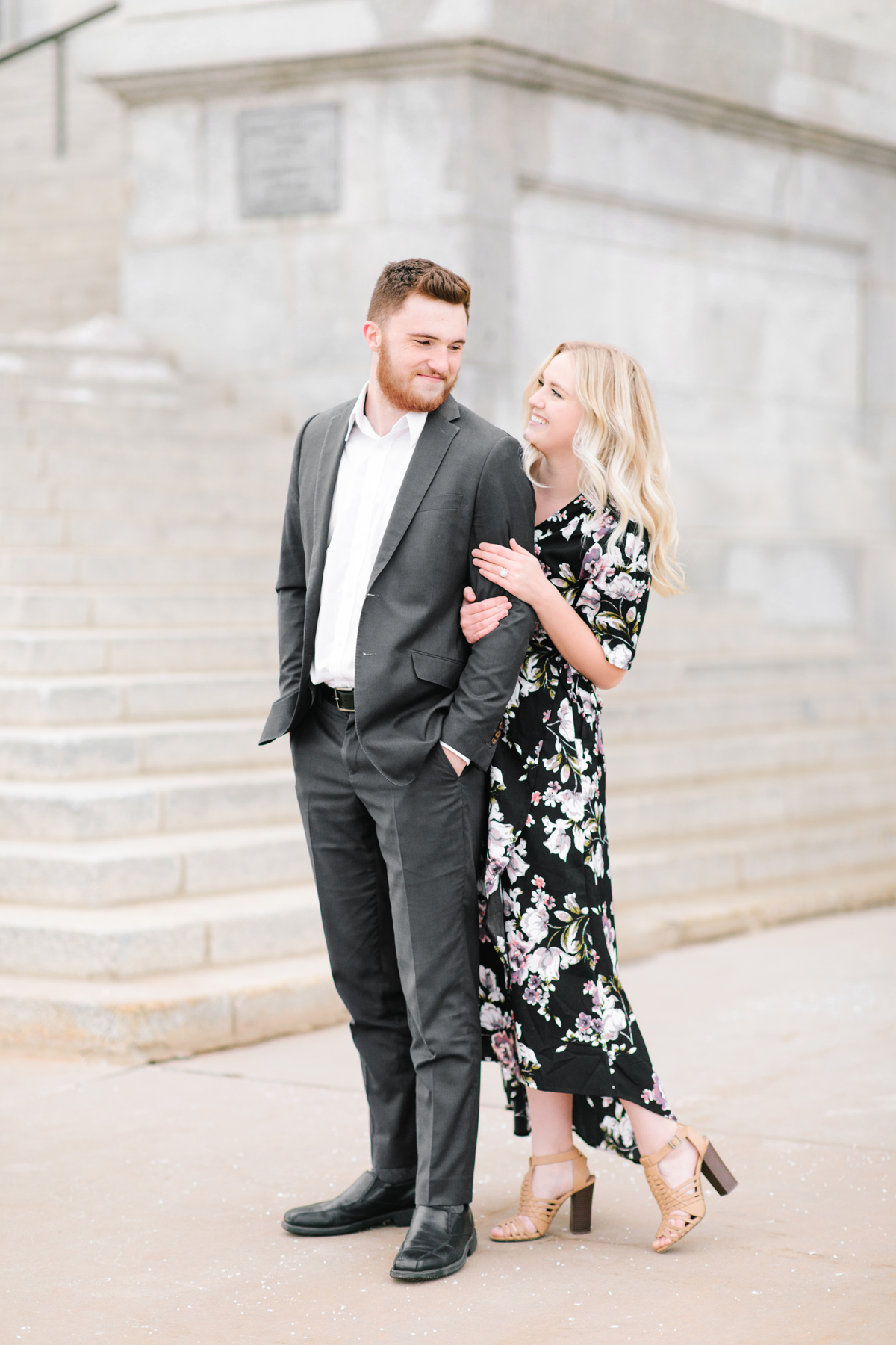 blonde loose curls hair inspiration fiance engagement session salt lake city capitol building linking arms heel pop staircase downtown urban photos utah valley wedding photographer #saltlakecitycapitolbuilding #engaged #utahvalleyengagementphotography #saltlakecityengagementphotographer #isaidyes #weddinginspo #engagementphotos #utah ##outfitinspo #fiance
