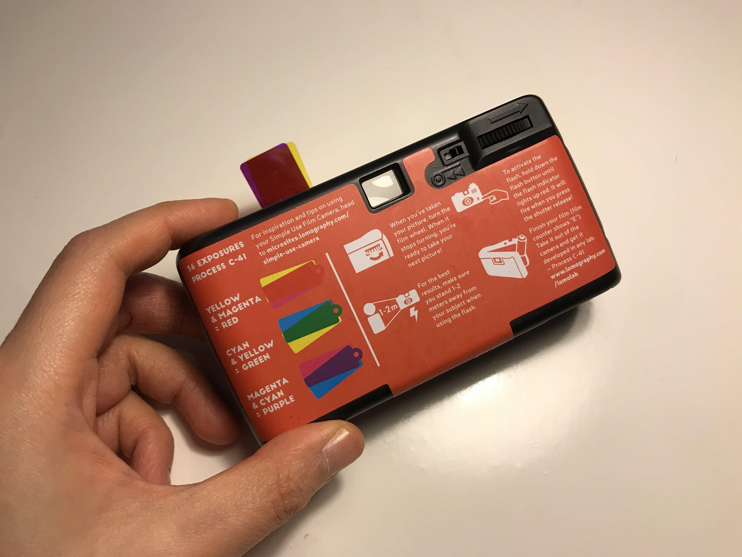 Lomography colour negative simple use disposable camera