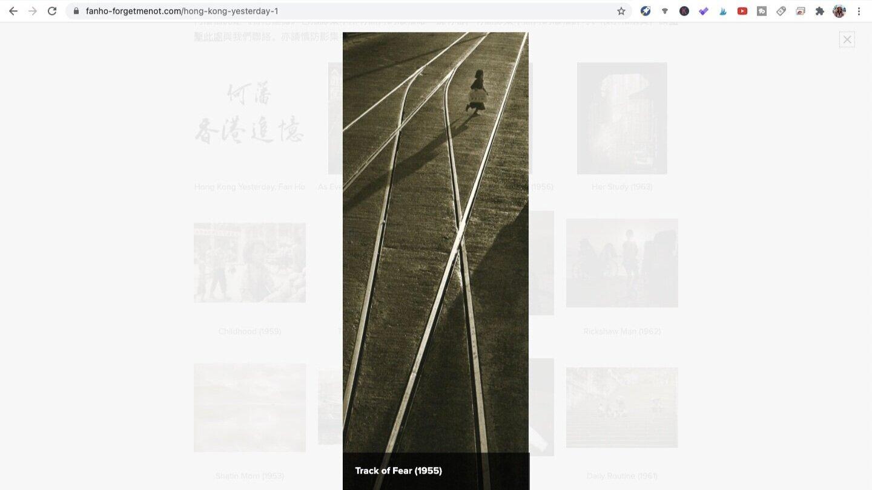 Track of Fear (1955). Photo by Fan Ho. Screen shot taken from Fan Ho Official Website.