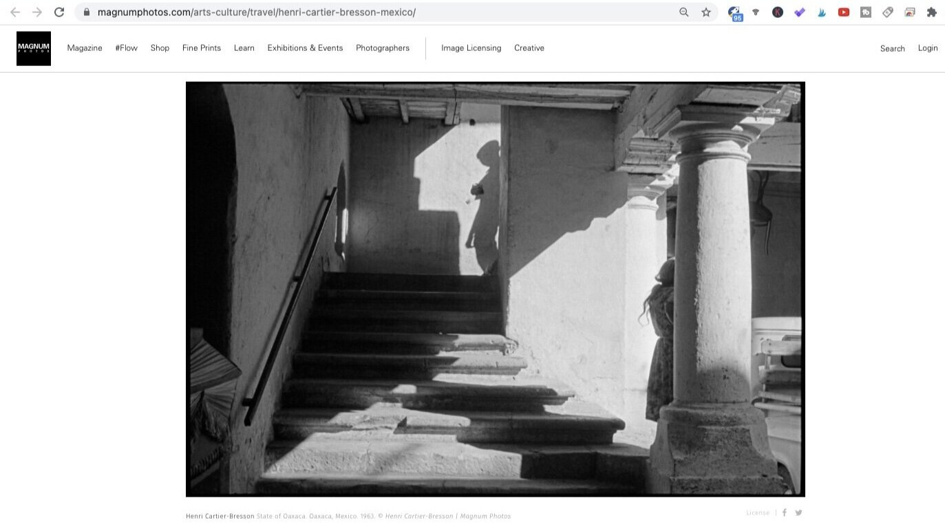 State of Oaxaca (1963). Photo by Henri Cartier-Bresson. Screen shot taken from Magnum Photos.