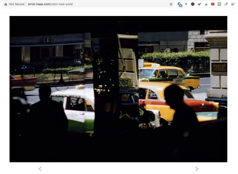 Park Avenue (1952). Photo by Ernst Haas. Screen shot taken from Ernst Haas Estate.