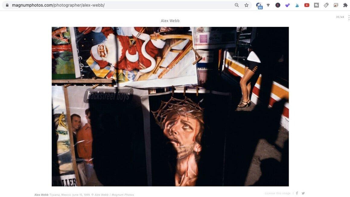 Tijuana (1999). Photo by Alex Webb. Screen shot taken from  Magnum Photos .