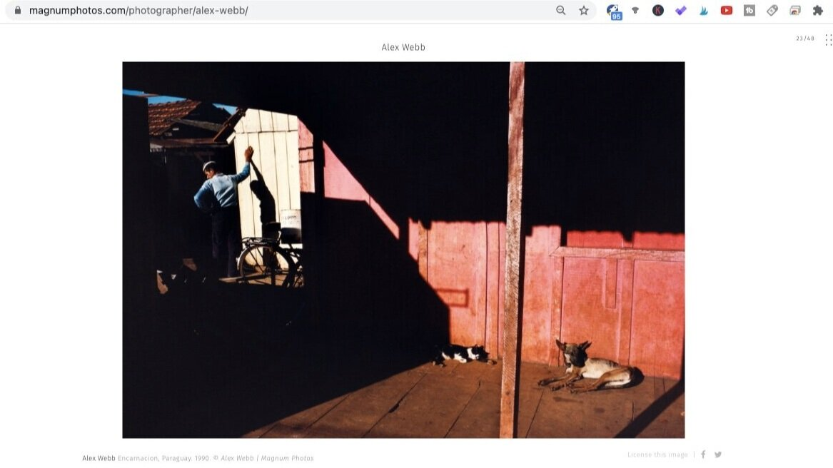 Encarnacion (1990). Photo by Alex Webb. Screen shot taken from  Magnum Photos .