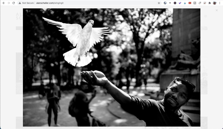 Photo by Alan Schaller, from the series Manhattan. Screen captured from Alanschaller.com.