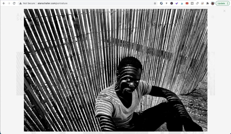 Photo by Alan Schaller, from the series Portraiture. Screen captured from Alanschaller.com.