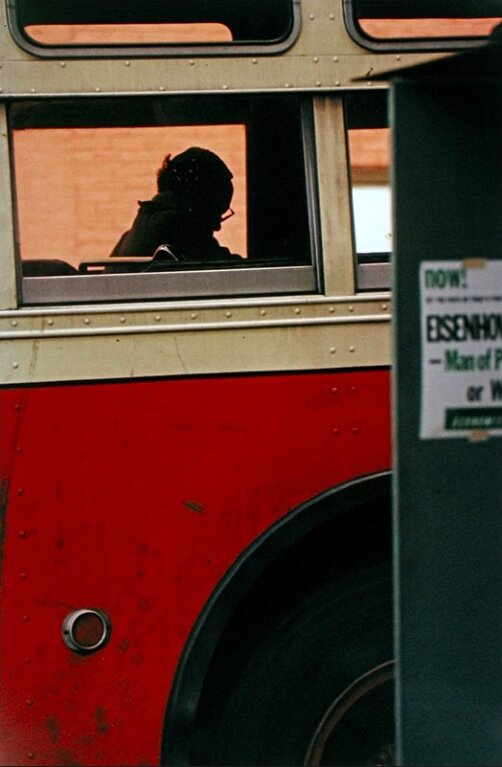 Photo by Saul Leiter, titled 'Bus', (1954).
