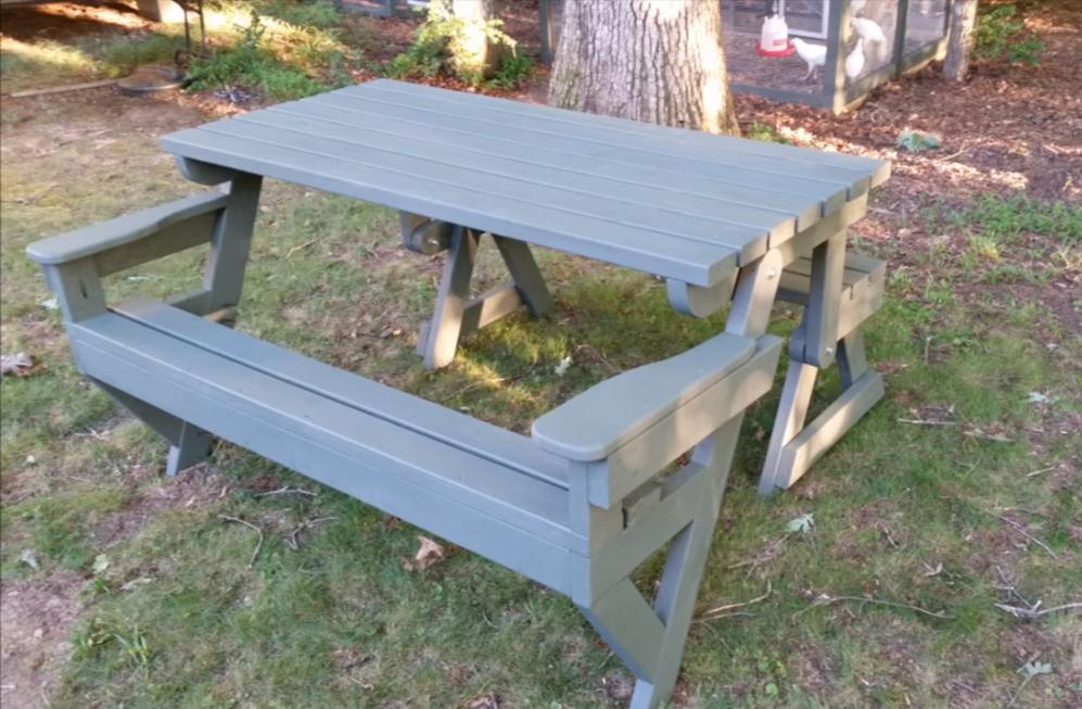 Bench Picnic Table Plans Davegatton Com