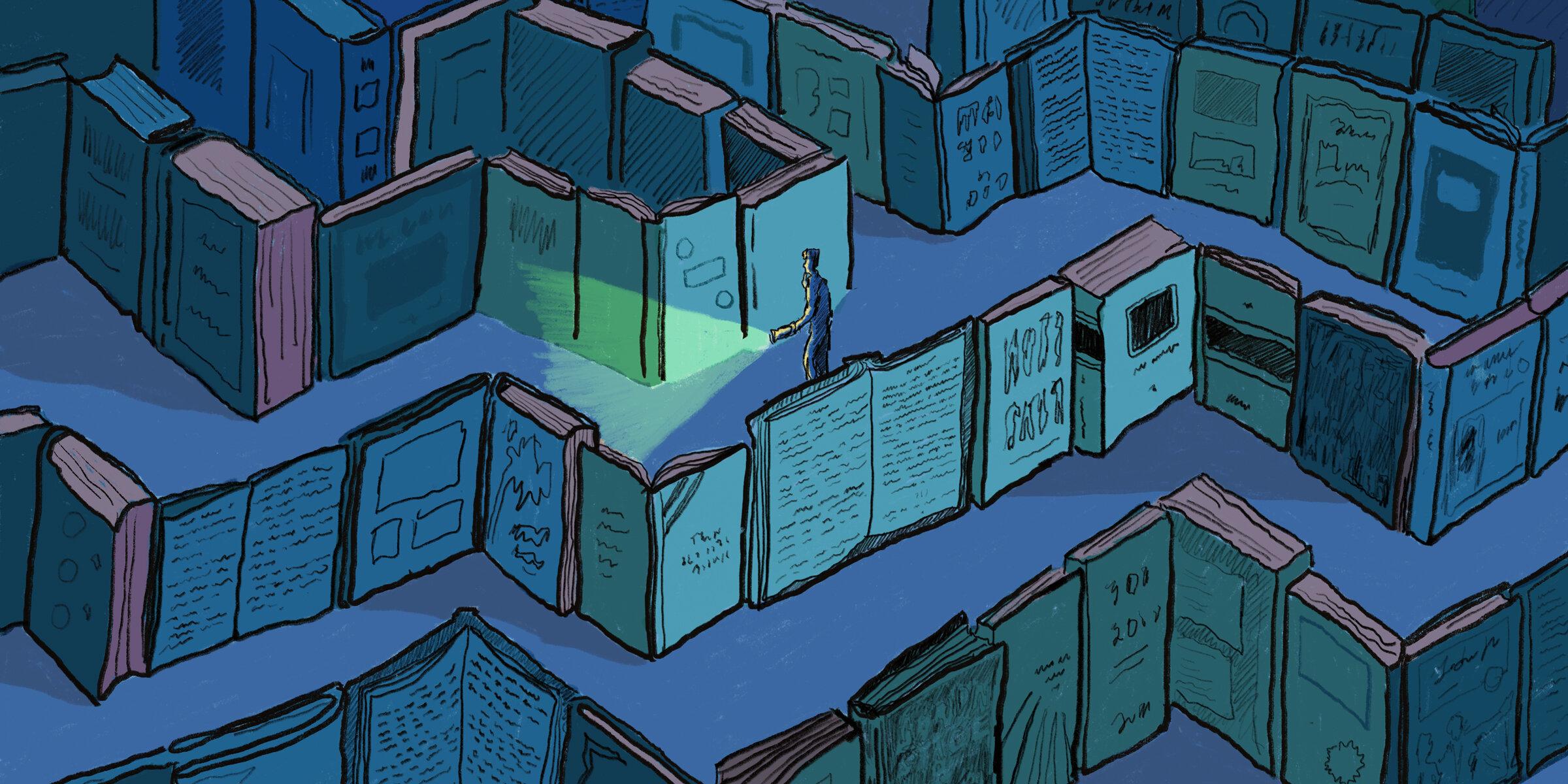 Library Stories - Illustrations for Medium