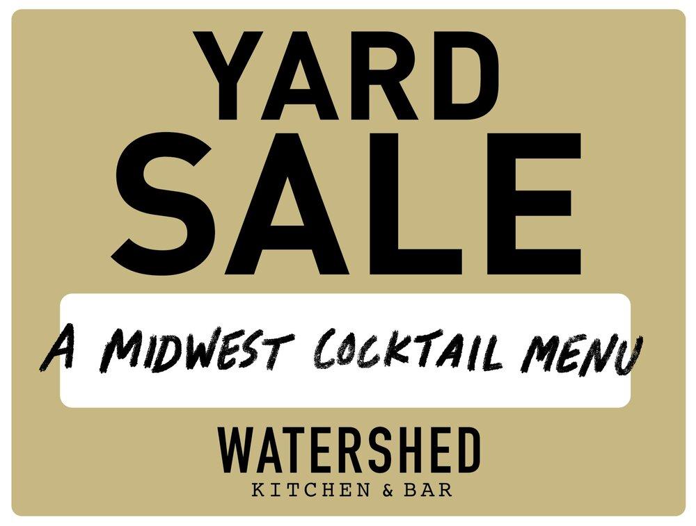 Watershed Kitchen Bar Yard Sale Menu Watershed