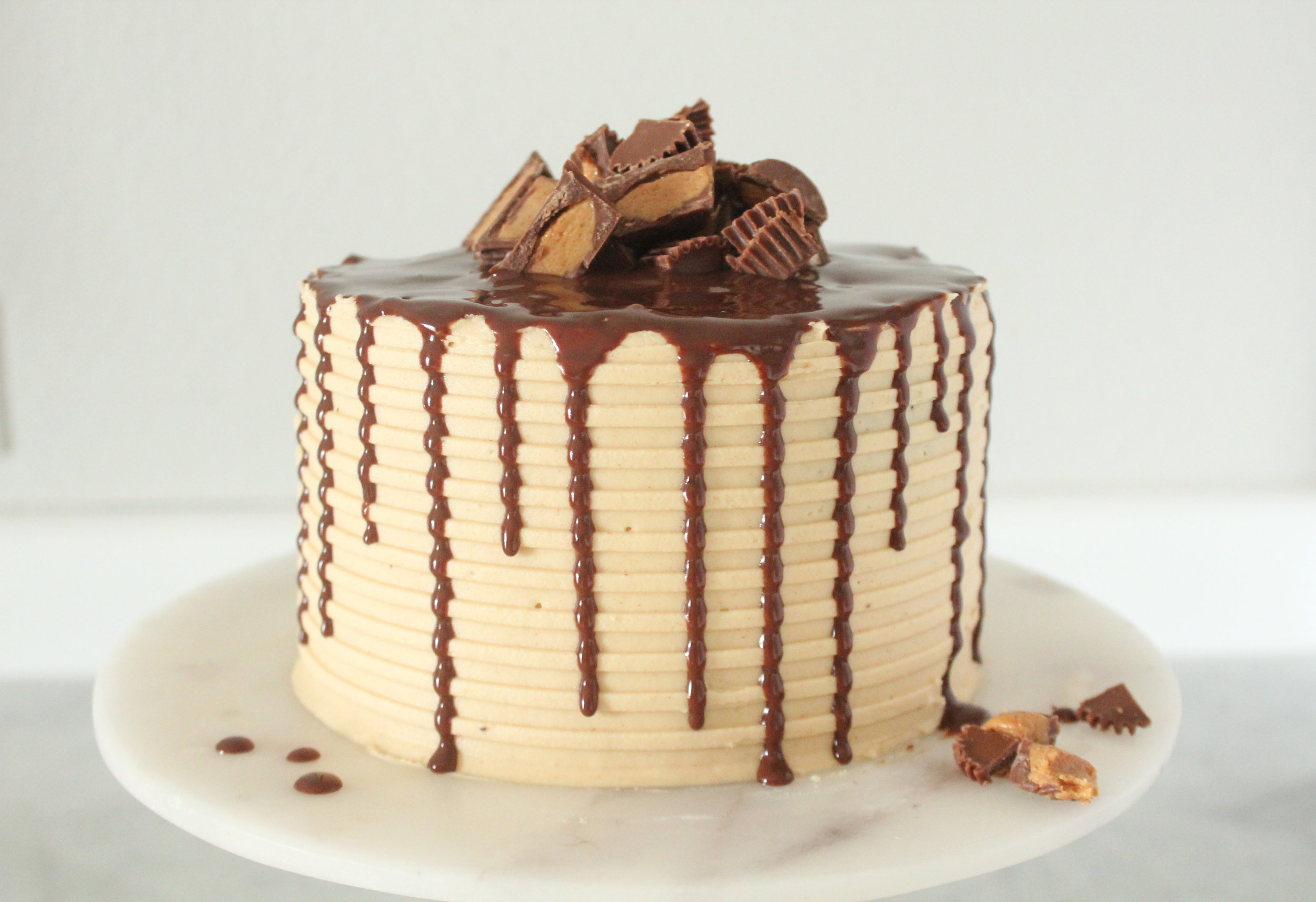 Chocolate Peanut Butter Cake For Two Elisabeth Butter