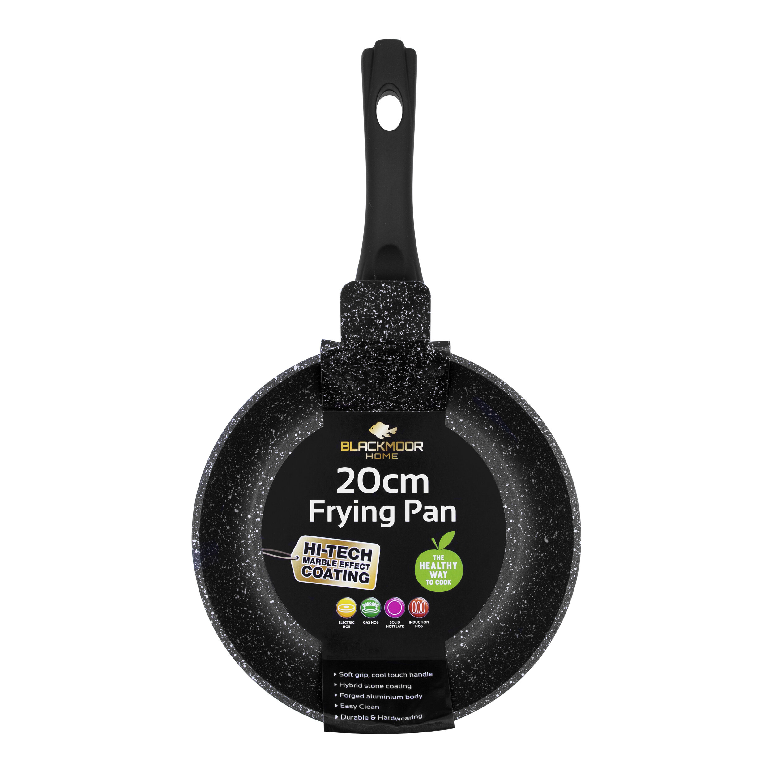 Blackmoor  Stone Non Stick Frying Pan Induction Base Cool Handle 20cm UK
