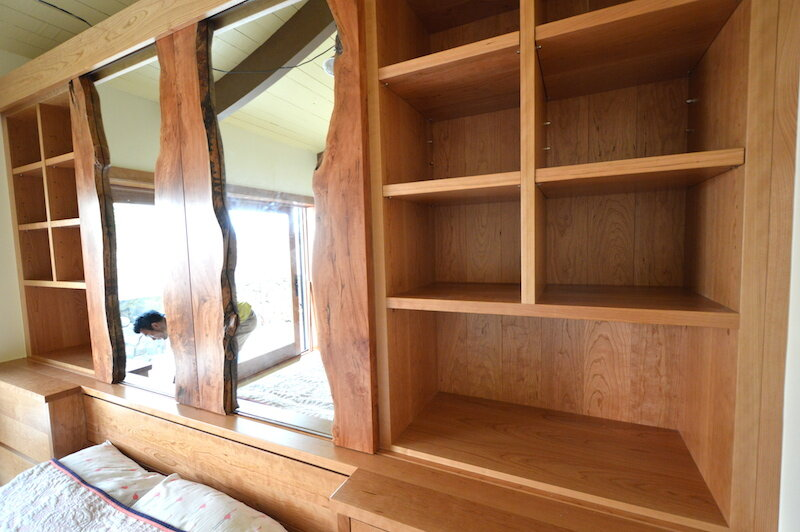 Custom bookcase and cabinets