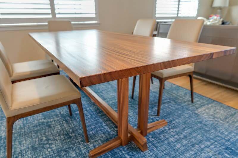 Monkeypod Dining Table Furniture Maker Satoshi Yamauchi