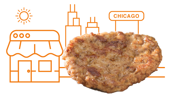 Sausage - Sausage Made In Chicago, For ChicagoOur sausage is produced using high quality cuts of meat, right in Chicago. The premium meat products we incorporate in our delicious, specialty pizzas is what Chicago Deep Dish pizza standards are made with. With our sausage and meat products being USDA certified, we can bring our customers quality and taste with every pizza we serve.
