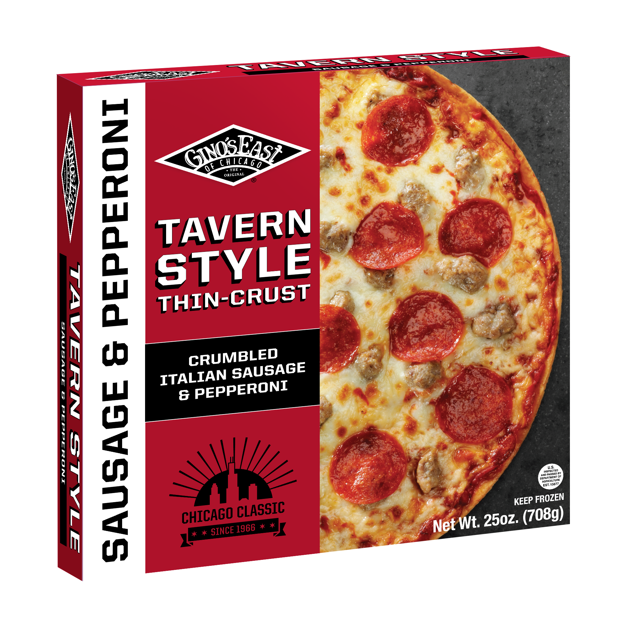 """tavern style italian sausage pepperoni thin crust pizza how do you ship frozen pizza"""",""""frozen pizza questions"""""""