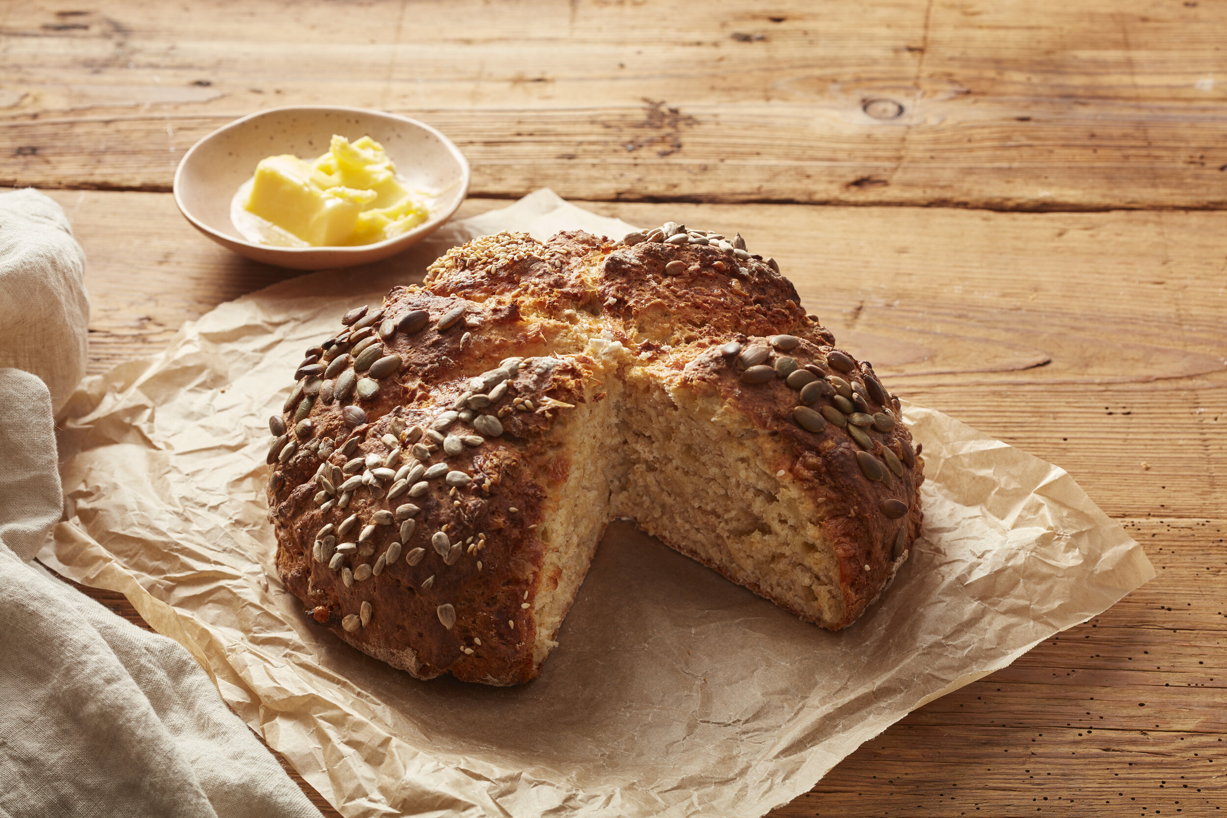 Seedy Cheesy Irish Soda Bread Farm To Fork