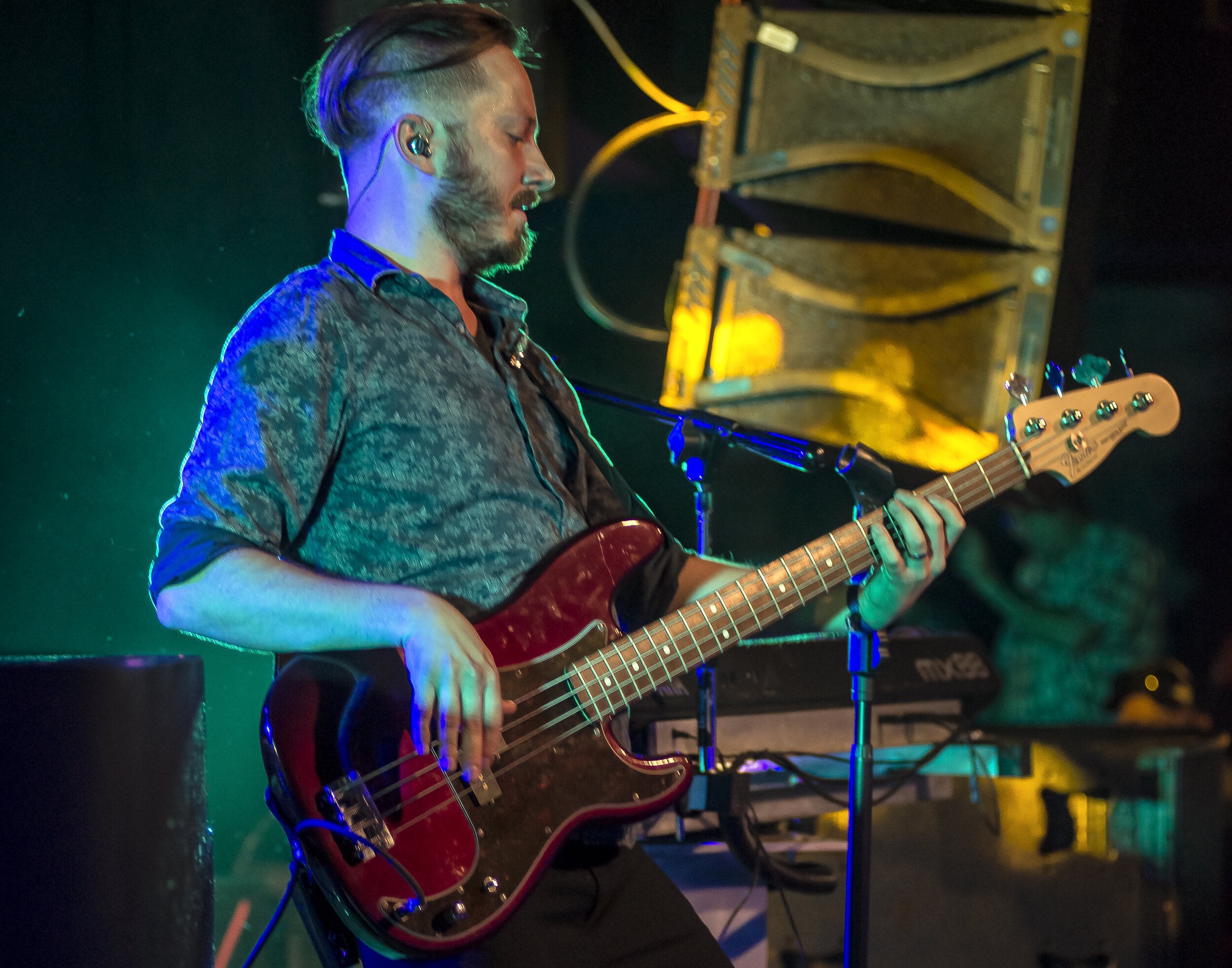 FRED UPDEGRAFT   bass guitar/Vocals - Fred Updegraft is an astonishingly gifted bassist and occasional drummer of The Stranger, but his natural talent far exceed what you would expect from someone as young as he is. A true