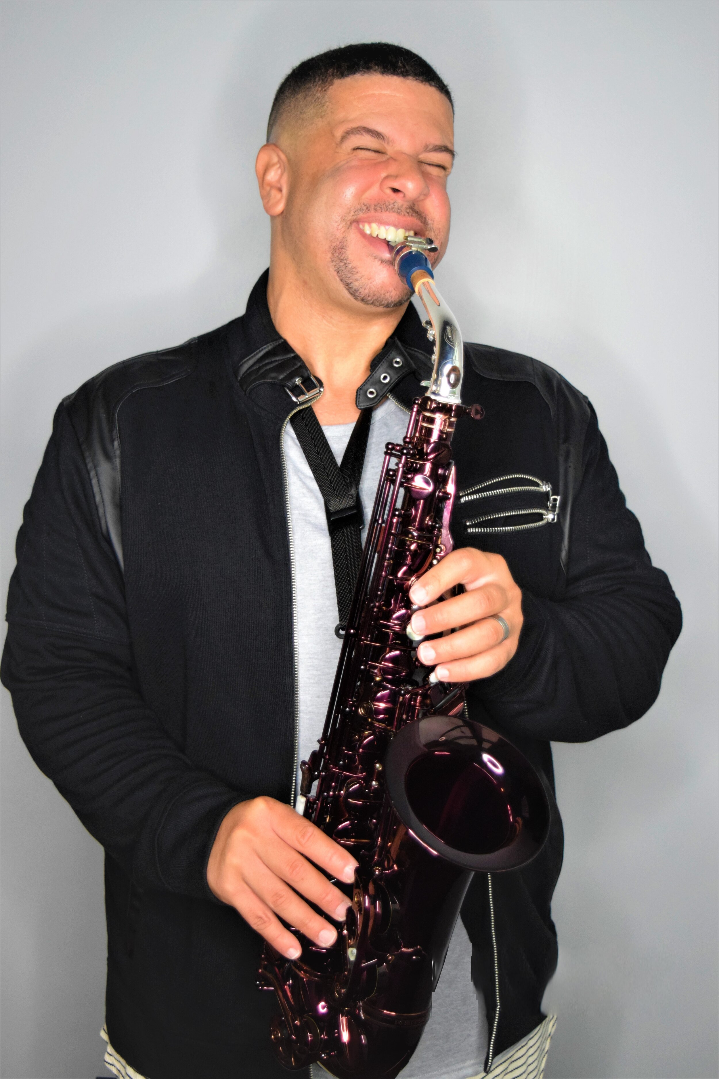 """Gabriel Bello              Saxophones             Keys/Vocals - A frequent guest player and close friend of the band, Gabriel Bello is no """"stranger"""" to the tribute band world. An accomplished multi-instrumentalist, vocalist, composer, arranger and producer, Gabe also is the founder and feature performer of national Stevie Wonder tribute """"Natural Wonder"""" as well as founder and front man of national Toto tribute """"Bless The Rains""""We in the Stranger have been privileged to work with Gabe and still often do. Check him out at www.gabrielbellomusic.com !"""