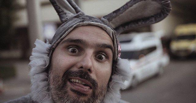 Bunnies can be silly. Still from Mind Mending . . . #aphasia #stroke #strokesurvivor #strokerecovery #music #bunnycostume #brain #faro #hospital #ambulance #documentary #teaser