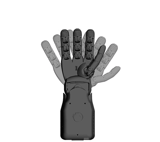 RH5D & RH7D Child-size Robot Hands - The same form factor can be built in two configurations RH5D | Optimized for Payload applications14 Degrees of Freedom, 5 smart actuatorsPAYLOAD: 3D space 350g; Vertical pull 600gRH7D | Optimized for Human Robot Interface applications16 Degrees of Freedom, 7 actuatorsCapable of a comprehensive array of hand expressions and interactions.