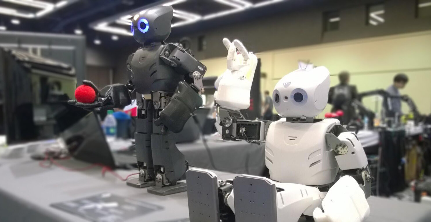 """It began with an idea… - How about giving hands to the [then popular] Darwin-OP Robot?What opportunities could it unleash?Hence the first generation of the RH4D was born (then called the """"DH4D"""").Years later we have a comprehensive portfolio of Human-inspired Robot hands (Adult size and Child size) and Advanced Manipulators."""