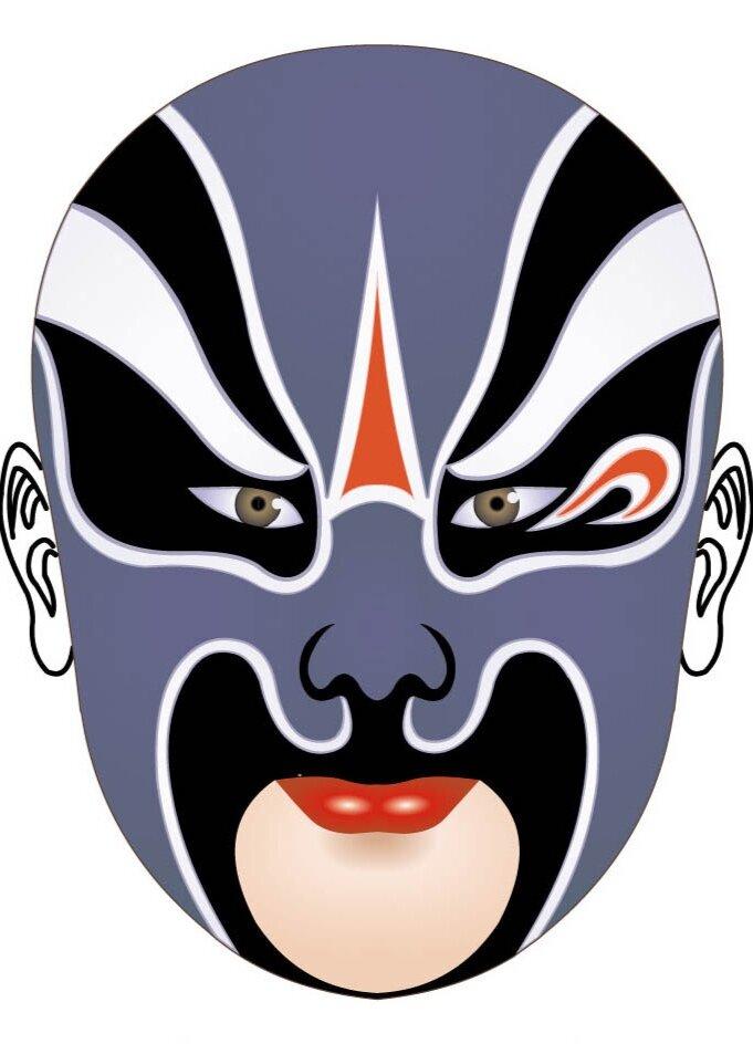 A traditional Peking Opera Mask Design