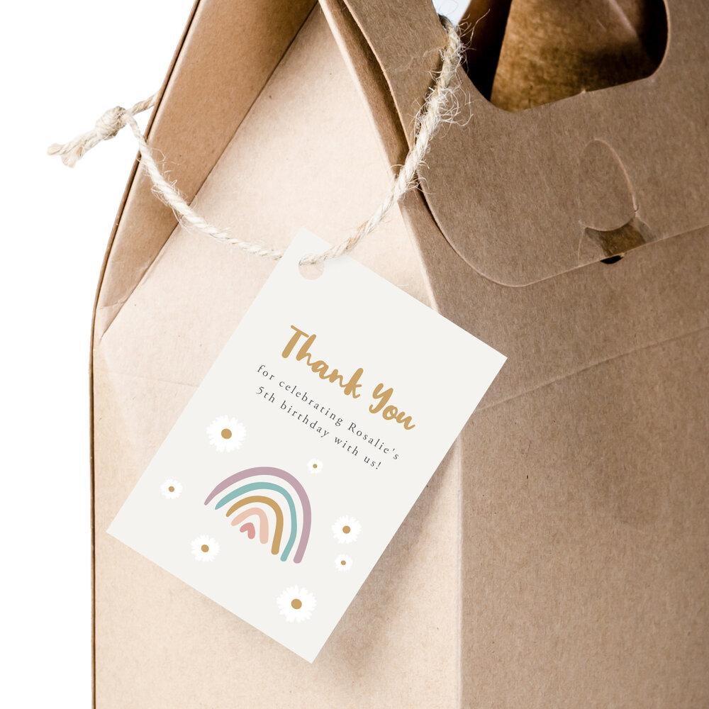 Boho Rainbow Milestone Birthday Board Sign For Girls Digital File Only