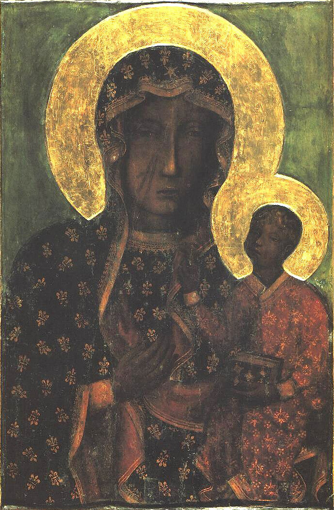 The Black Madonna of Częstochowa, Poland.