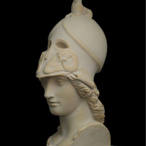 Pallas Athena in phallic Corynthian helmet