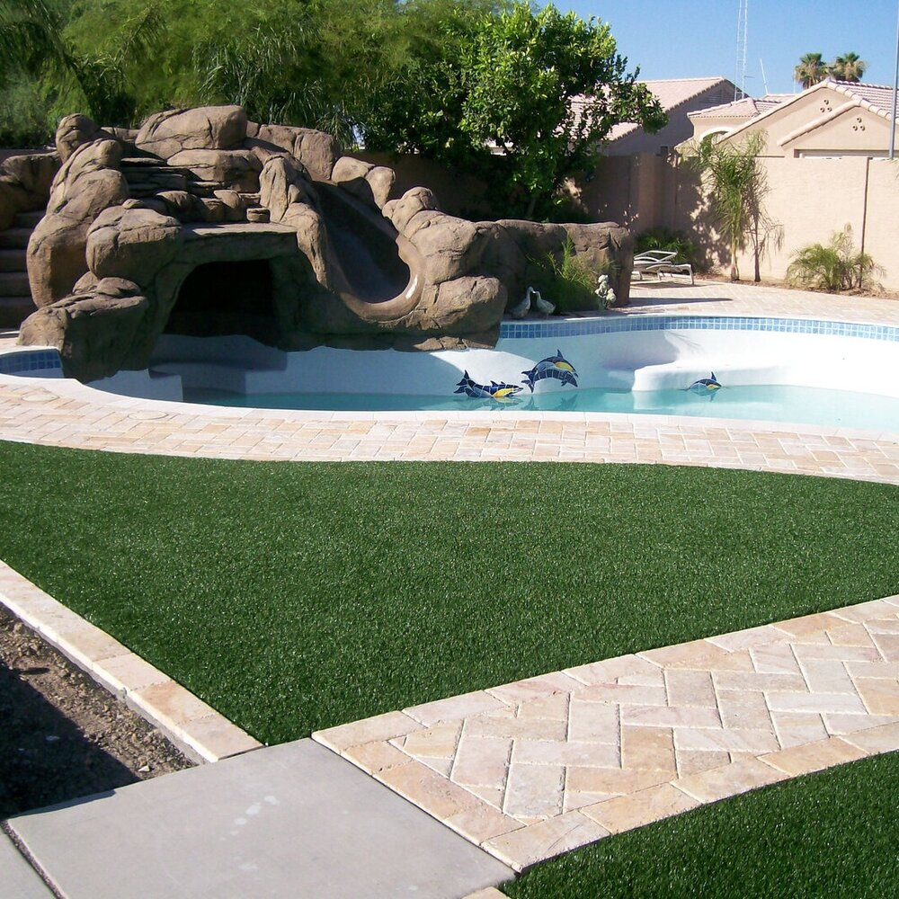 Reasons To Install Artificial Grass Around Your Pool Turfscapes Of Arizona Llc