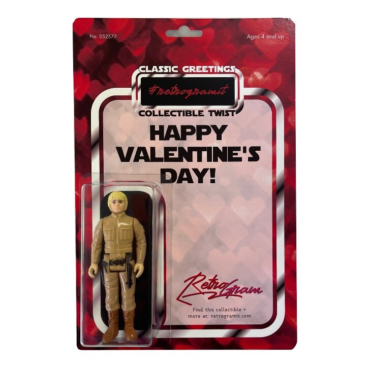 Happy Valentine S Day Card And Figure Retro Gram