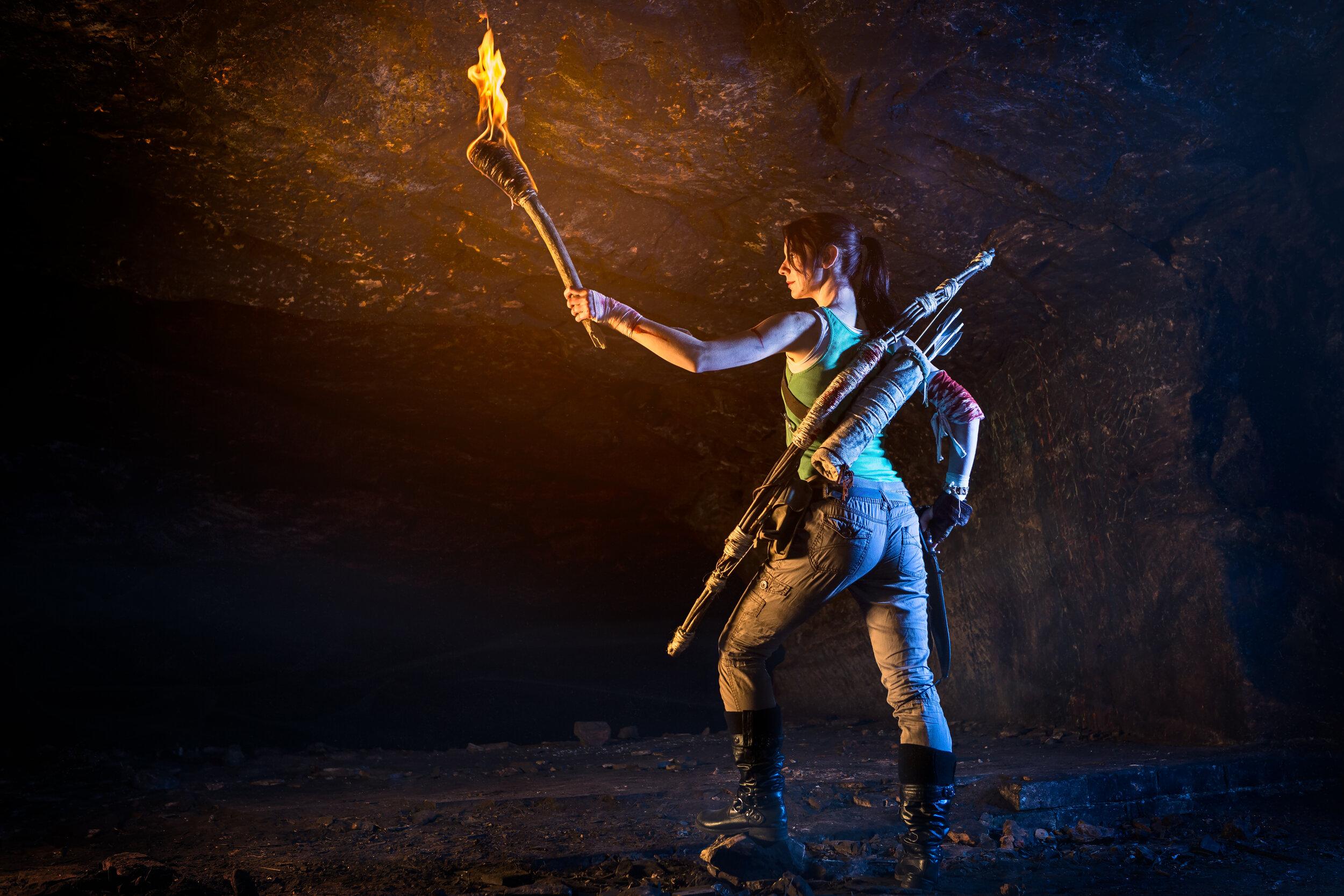 The Gamehers Being Lara Croft