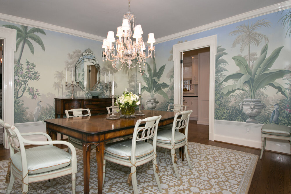 Referencing Tradition Scenic Wallpaper, Dining Room Murals Pictures