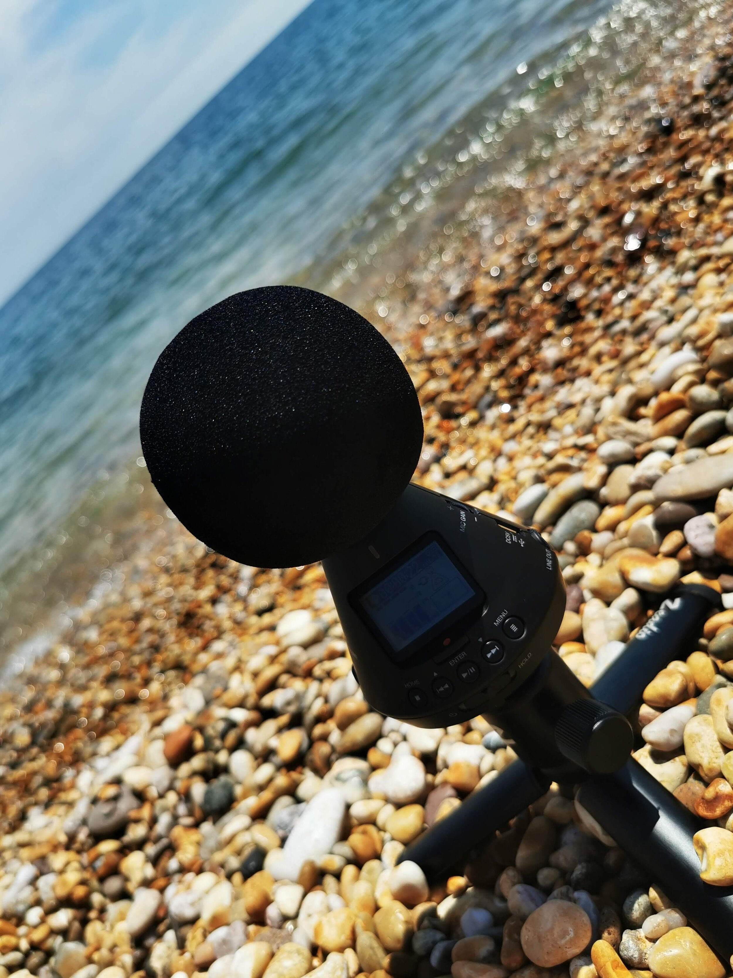 Here is one of the ambisonic microphones we use! The Zoom H3-VR (Available  here )