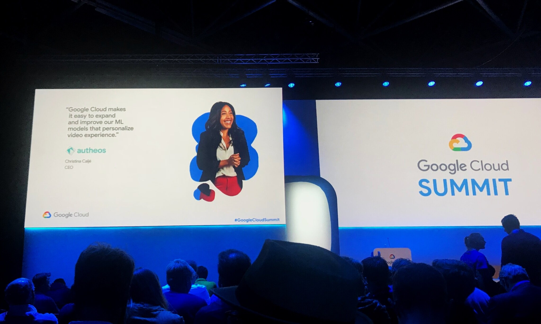 Christina Caljé and Autheos featured as client case study at Google Cloud Summit