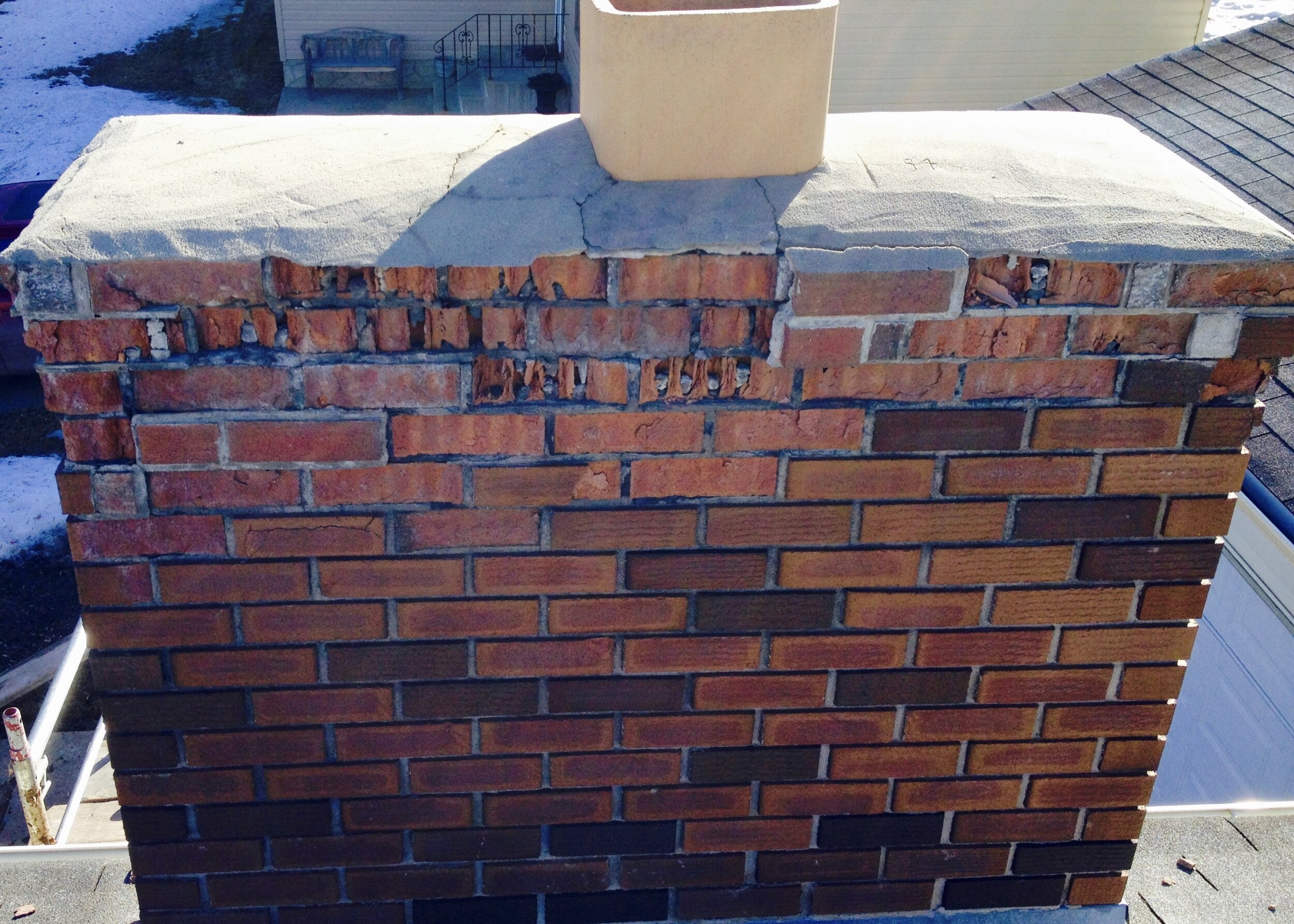 Fireplace Makeover Weatherproof Roofing