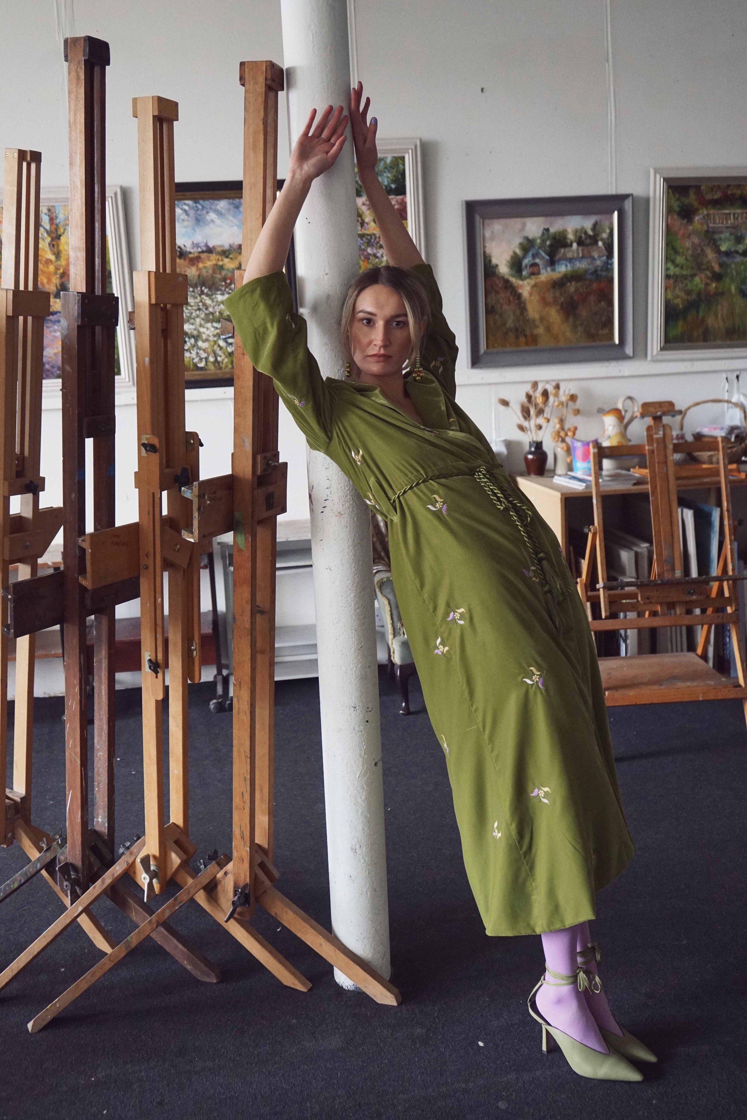 The Bell Moss Embroidered Velvet Jacket